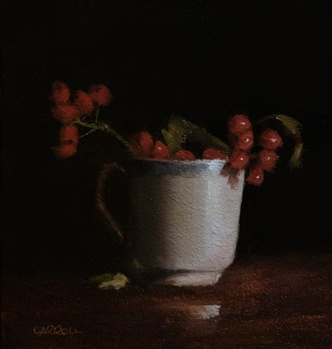 """Cup of Berries"" original fine art by Neil Carroll"