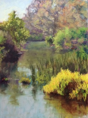 """UP PUTAH CREEK"" original fine art by Marti Walker"