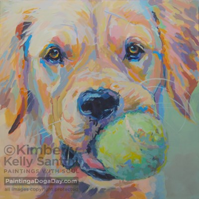 """Ball?"" original fine art by Kimberly Santini"
