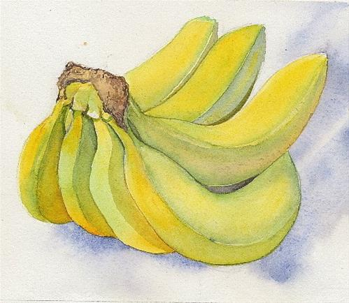 """""""Bananas"""" original fine art by Carole Baker"""