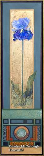 """""""Iris"""" original fine art by Deirdre McCullough Grunwald"""
