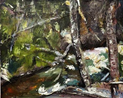 """Landscape,o15"" original fine art by Run-      Zhang Zane"