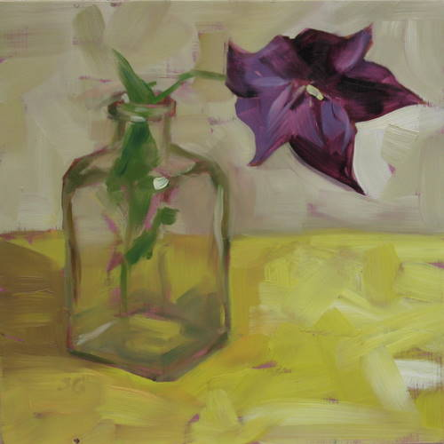 """Frontyard Balloon Flower"" original fine art by Sandy Haynes"