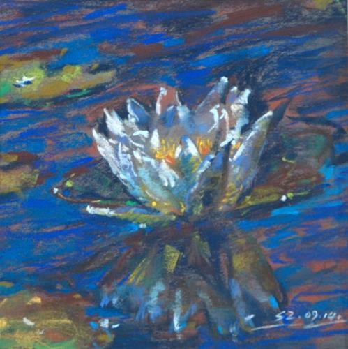 """Water Lily"" original fine art by Sabrina Zhou"