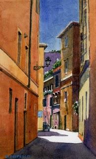 """""""Watercolor: Vicolo Della Palle"""" original fine art by Belinda Del Pesco"""
