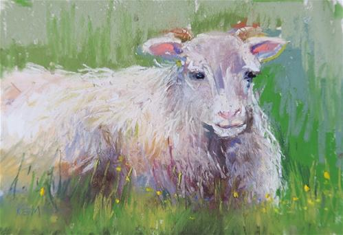 """Icelandic Sheep l"" original fine art by Karen Margulis"