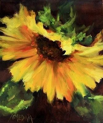 """""""Parasol Sunflower by Nancy Medina"""" original fine art by Nancy Medina"""
