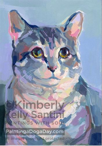 """Little Lou"" original fine art by Kimberly Santini"