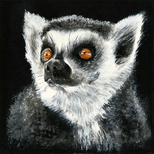"""Little lemur"" original fine art by Karen Robinson"
