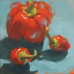 """""""HOT STUFF"""" original fine art by Helen Cooper"""