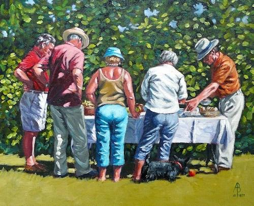 """""""Summer lunch"""" original fine art by Alix Baker"""