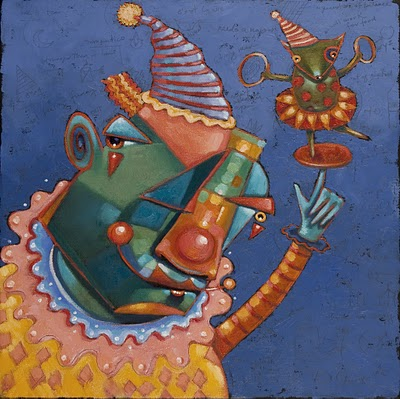 """Nigel And Beasty; Party Crashers"" original fine art by Brenda York"