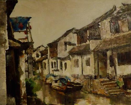 """zhou zhang 7"" original fine art by Run-      Zhang Zane"
