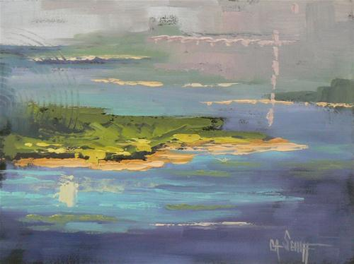"""Islands in the Stream"" original fine art by Carol Schiff"