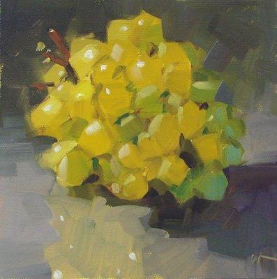 """Magic Grapes"" original fine art by Carol Marine"