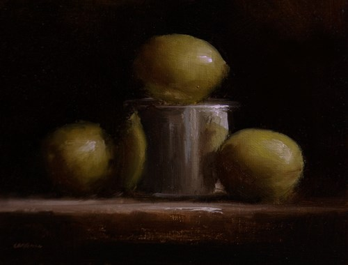 """Lemons and Tin"" original fine art by Neil Carroll"