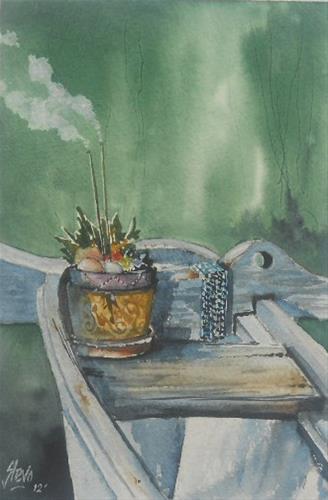 """The Offering"" original fine art by Martin Stephenson"