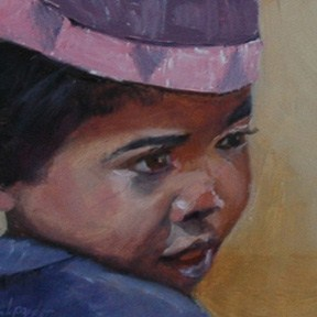 """MADAGASCAR BOY"" original fine art by Linda Popple"