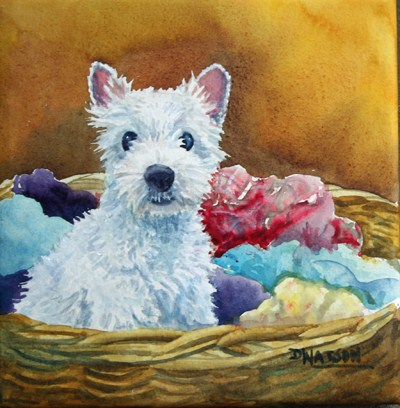 """Mothers Little Helper"" original fine art by Deb Watson"