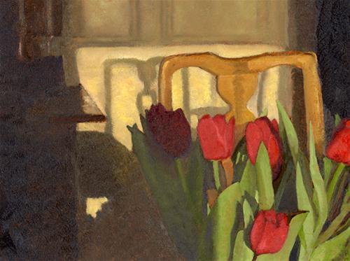 """""""TULIPS IN FEBRUARY"""" original fine art by Nancy Herman"""