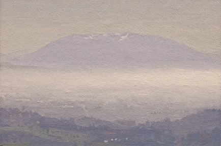 """Morning View of Mt. Subasio (Italy painting #6)"" original fine art by Abbey Ryan"