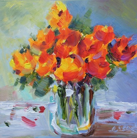 """Warm and Bright"" original fine art by Lisa Fu"