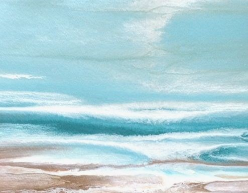 """Coastal Dreams-Tidepool-Study 1 by Kimberly Conrad"" original fine art by Kimberly Conrad"