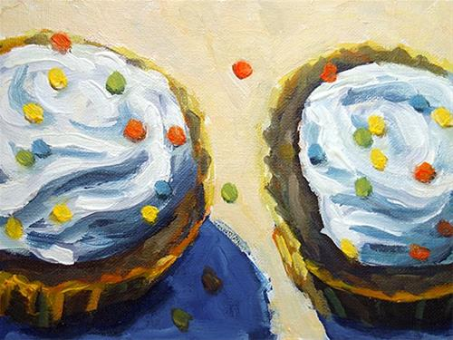 """Cupcakes"" original fine art by J. Farnsworth"