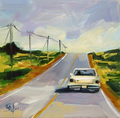 """No 654 Away I Go!"" original fine art by Robin J Mitchell"