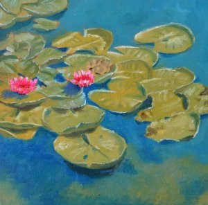 """""""Water Lilies Revisited"""" original fine art by Robert Frankis"""