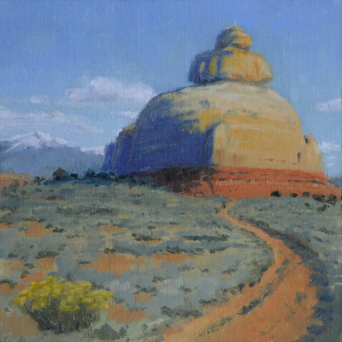 """Church Rock"" original fine art by Susan Matteson"