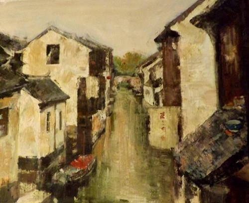 """zhou zhang 8"" original fine art by Run-      Zhang Zane"