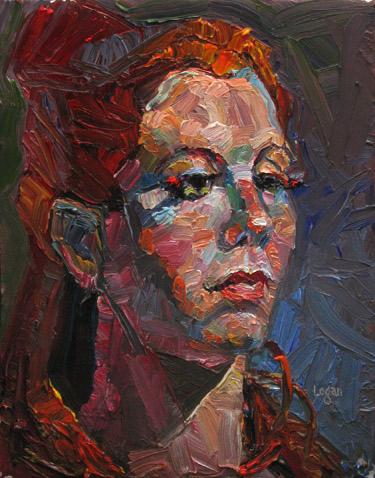 """Eyelashes"" original fine art by Raymond Logan"