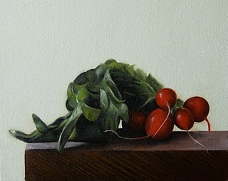 """Radishes"" original fine art by Jonathan Aller"