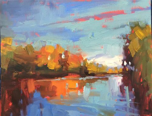 """Willamette River"" original fine art by Marla Baggetta"