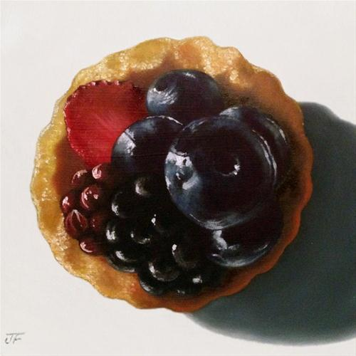 """Fruit Tart Study I"" original fine art by Jelaine Faunce"