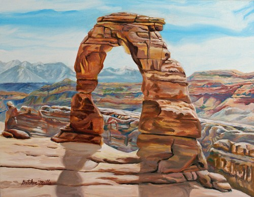 """""""Delicate Arch"""" original fine art by Gretchen Matta"""