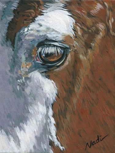 """Paint Eye"" original fine art by Nadi Spencer"