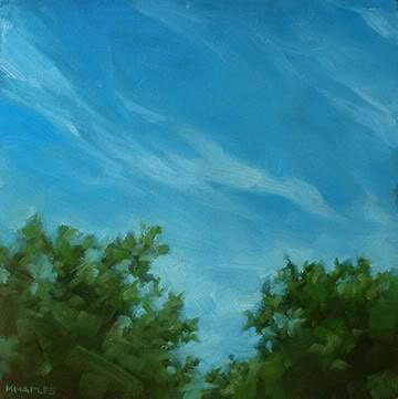 """Cirrus Clouds"" original fine art by Michael Naples"