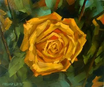 """Yellow Rose"" original fine art by Michael Naples"