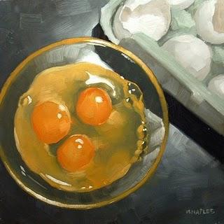 """Triple Yolks"" original fine art by Michael Naples"