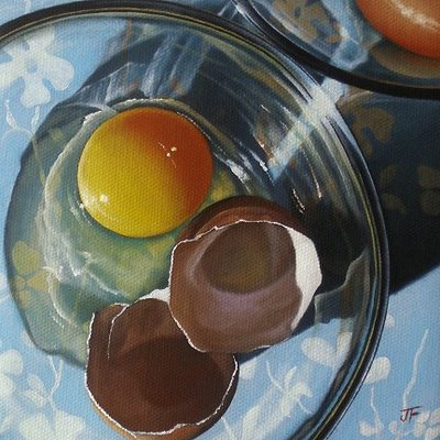"""Egg #12"" original fine art by Jelaine Faunce"