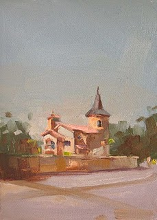"""House in Austin 2"" original fine art by Qiang Huang"