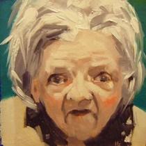 """""""FACE-IT.  #5"""" original fine art by Helen Cooper"""