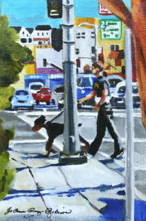 """San Francisco Days"" original fine art by JoAnne Perez Robinson"