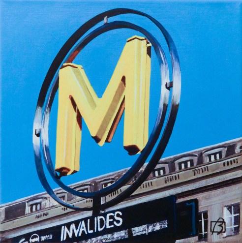 """Metro Invalides"" original fine art by Andre Beaulieu"