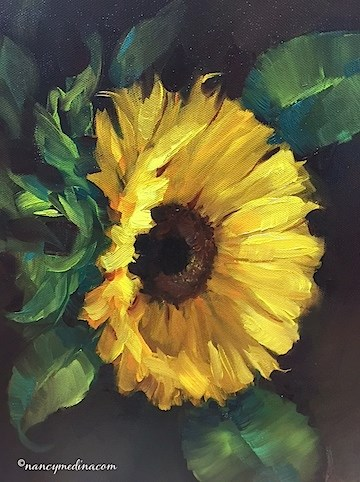 """Warm Heart Sunflowers and My Mother the Poet - Flower Paintings by Nancy Medina Art"" original fine art by Nancy Medina"