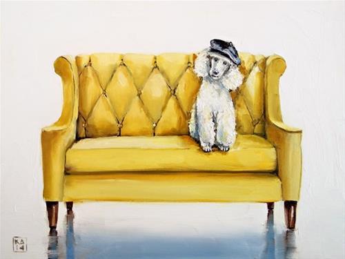 """ooh la la"" original fine art by Kimberly Applegate"