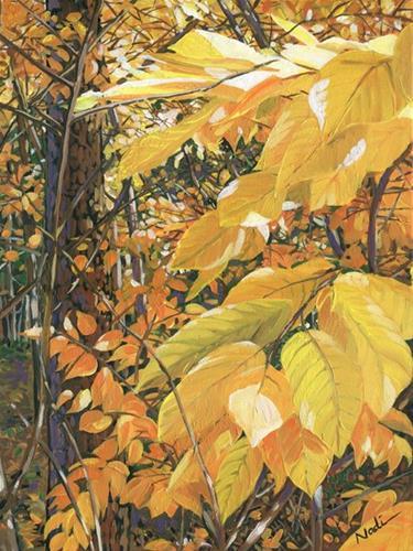 """Wild Persimmon"" original fine art by Nadi Spencer"