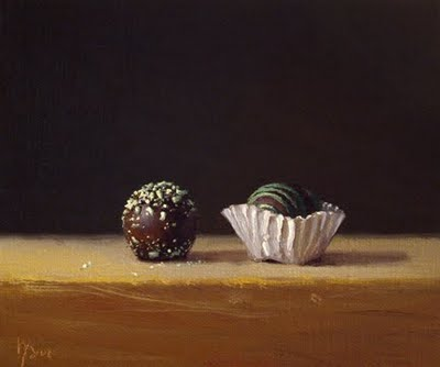 """Still Life with Chocolate Truffles"" original fine art by Abbey Ryan"